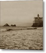 The  Third Cliff House And Seal Rocks From Pier, San Francisco,  Circa 1895 Metal Print