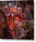 The Third Voice - Fractal Art Metal Print