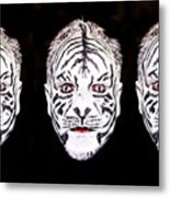 The Three Faces Metal Print