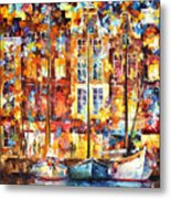 The Three Friends - Palette Knife Oil Painting On Canvas By Leonid Afremov Metal Print