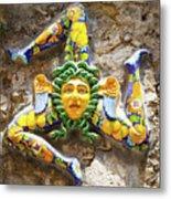 The Three-legged Symbol Of Sicily, Italy - Trinacria  Metal Print
