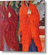 The Three Marys At The Tomb Fragment 1311 Metal Print