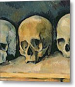 The Three Skulls Metal Print by Paul Cezanne