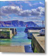 The Tide Is Out In The Harbour Metal Print