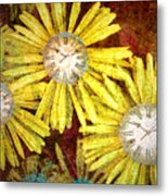 The Time Flowers Metal Print