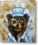 The Times Bear Metal Print
