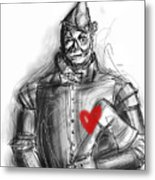 The Tin Man Metal Print