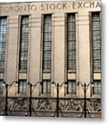 The Toronto Stock Exchange Metal Print