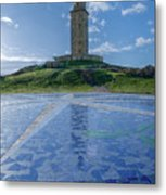 The Tower Of Hercules And The Rose Of The Winds Metal Print