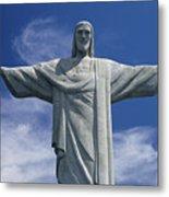 The Towering Statue Of Christ Metal Print