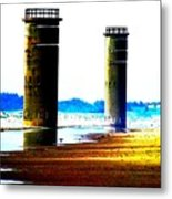 The Towers After A Storm Metal Print