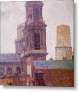 The Towers Saint Sulpice 1887 Metal Print