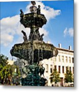 The Town Square Metal Print