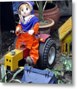 The Tractor Driver Metal Print