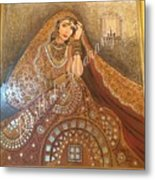 The Traditional Lady Metal Print