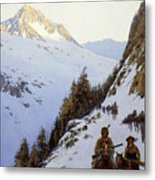 The Trail Over The Pass, 1910 Metal Print