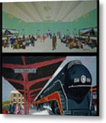 The Train Station At Portsmouth Ohio Metal Print