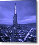 The Transamerica Pyramid At Sunset Metal Print