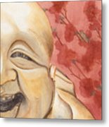 The Travelling Buddha Statue Metal Print