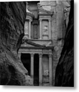 The Treasury - Petra Metal Print by Peter Dorrell
