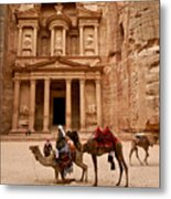 The Treasury Of Petra Metal Print