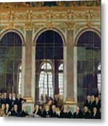 The Treaty Of Versailles Metal Print