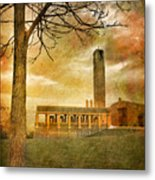 The Tree And The Bell Tower Metal Print