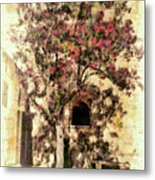 The Tree In The Corner Of The Courtyard Metal Print