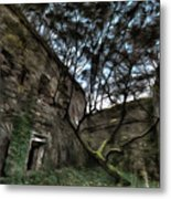 The Tree In The Fort - L'albero Tra Le Mura Del Forte Paint Metal Print