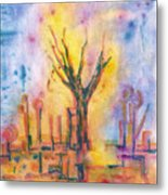 The Tree On The Road. 19 March, 2016 Metal Print