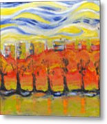 The Trees In Red. Day_march, 28  2015, Nizhny Novgorod, Russia Metal Print
