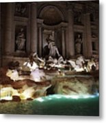The Trevi Fountain In Rome Metal Print