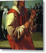 The Triangle Player Metal Print