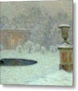 The Trianon Under Snow Metal Print