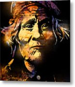 The Tribe Elder Metal Print