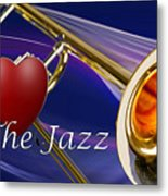 The Trombone Jazz 001 Metal Print