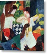 The Turkish Jeweller  Metal Print by August Macke