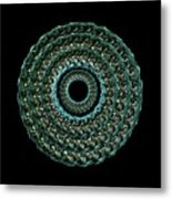 The Turqoise And Teal Infinity Of Rose Metal Print by Jacqueline Migell