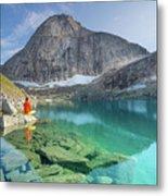 The Turquoise Lake Metal Print