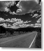The Turquoise Trail Metal Print