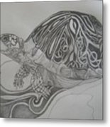 The Turtle Metal Print