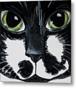 The Tuxedo Cat Metal Print