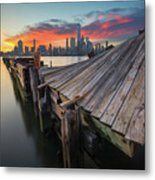 The Twisted Pier Metal Print