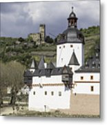 The Two Castles Of Kaub Germany Metal Print