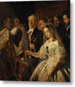 The Unequal Marriage Metal Print