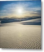 The Unique And Beautiful White Sands National Monument In New Me Metal Print