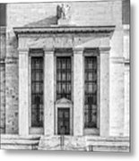 The United States Federal Reserve Bw Metal Print