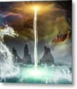 The Universe Of Dragons Metal Print