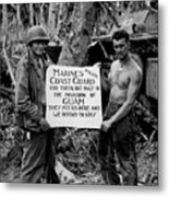 The U.s. Marines Salute The U.s. Coast Metal Print by Stocktrek Images