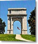 The Valley Forge Arch Metal Print